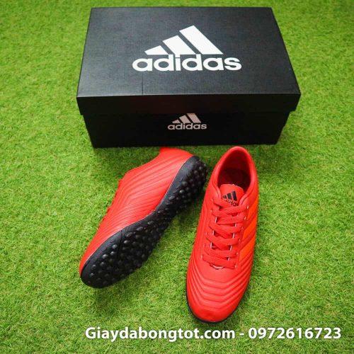 Giày bóng đá trẻ em Adidas Predator 19.4 TF màu đỏ đẹp mắt