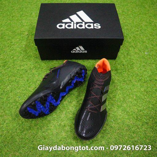 Giày đá bóng sân cỏ nhân tạo Adidas Nemeziz 18.3 TF màu đen cực kỳ ôm chân