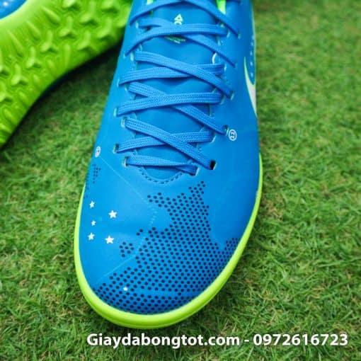 Giay da bong Nike Mercurial Neymar mau xanh duong dinh TF san co nhan tao (5)