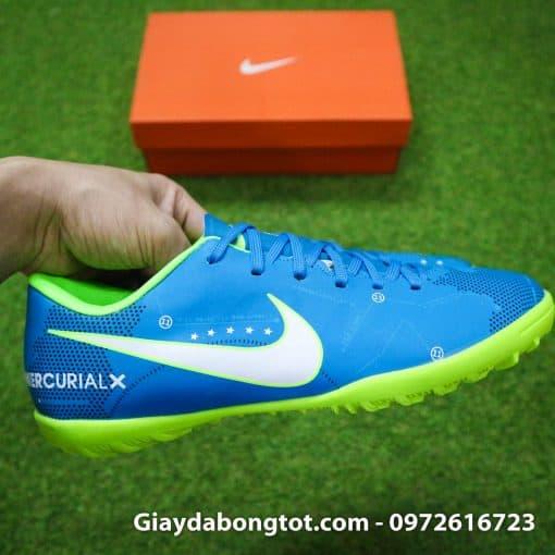 Giay da bong Nike Mercurial Neymar mau xanh duong dinh TF san co nhan tao (9)