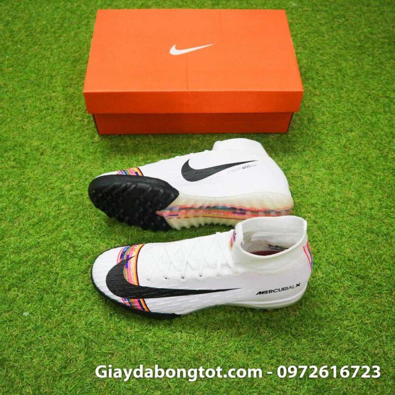 Giày đá bóng Nike cao cổ Mercurial Superfly VI đinh dăm TF hỗ trợ chơi bóng trên mặt sân cỏ nhân tạo