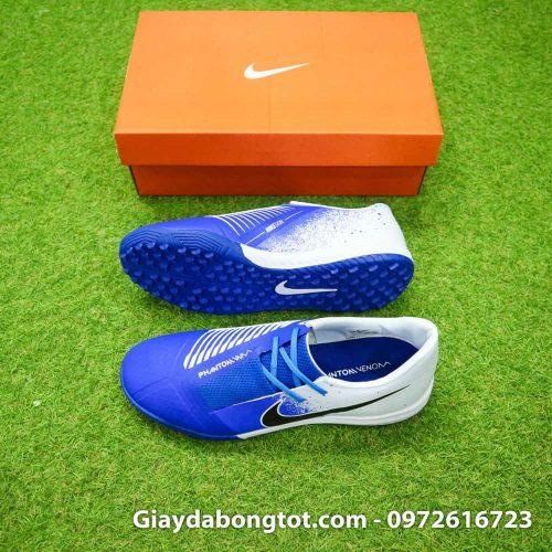 Giay da bong Nike Phantom VNM TF xanh duong trang (2)