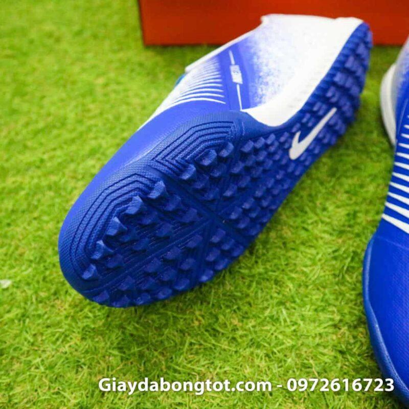 Giay da bong Nike Phantom VNM TF xanh duong trang (4)