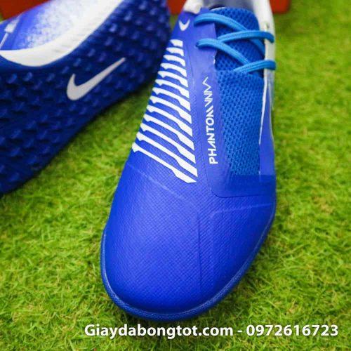 Giay da bong Nike Phantom VNM TF xanh duong trang (5)