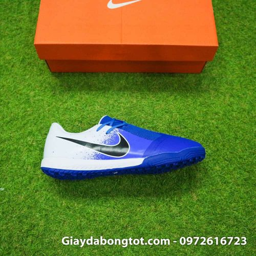 Giay da bong Nike Phantom VNM TF xanh duong trang (8)
