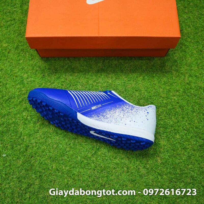Giay da bong Nike Phantom VNM TF xanh duong trang (9)