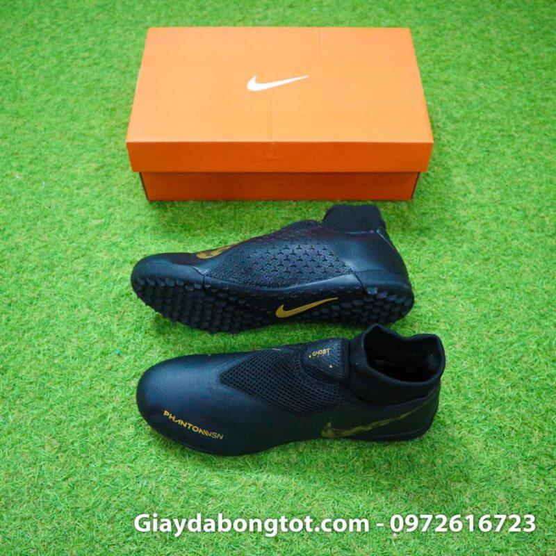 Giay da bong cao co Nike Phantom VSN TF mau den (2)