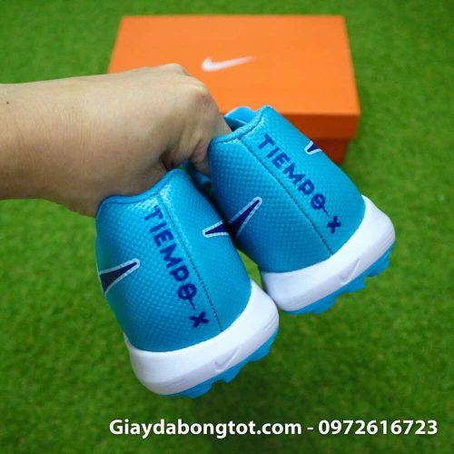 Giay da bong da mem Nike Tiempo X 7 Pro TF mau xanh nhat ghi (11)