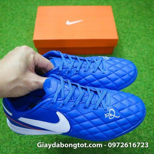 Giay da bong da mem Nike TiempoX Lunar 7 Pro TF mau xanh duong Ronaldinho (7)