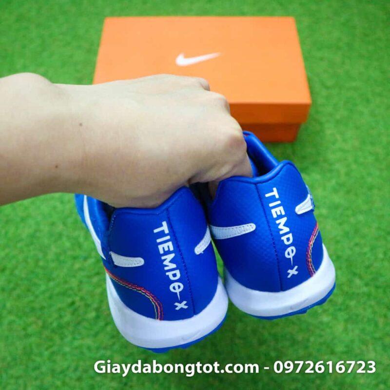 Giay da bong da mem Nike TiempoX Lunar 7 Pro TF mau xanh duong Ronaldinho (8)