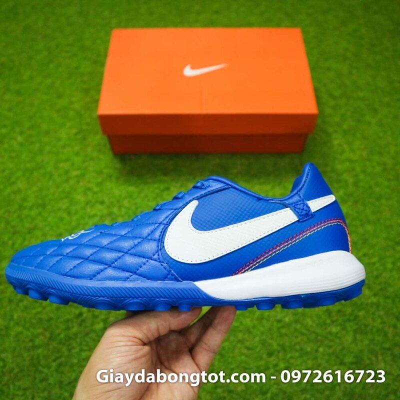 Giay da bong da mem Nike TiempoX Lunar 7 Pro TF mau xanh duong Ronaldinho (9)