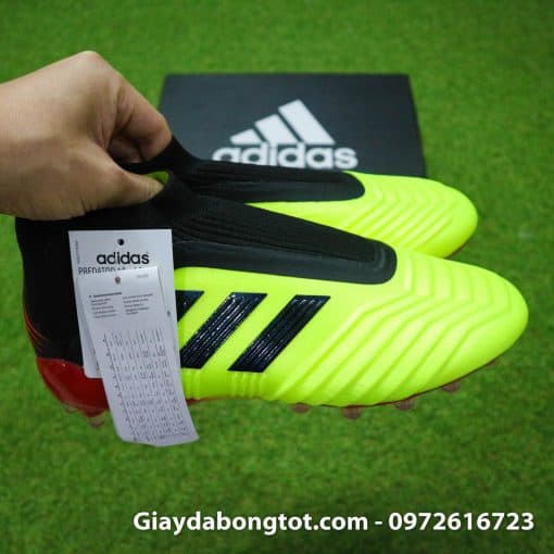 Giay da bong khong day Adidas Predator 18+ AG mau vang Worldcup 2018 (9)