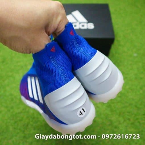 Giay da bong khong day Adidas Predator 19+ TF xanh duong 2019 (10)