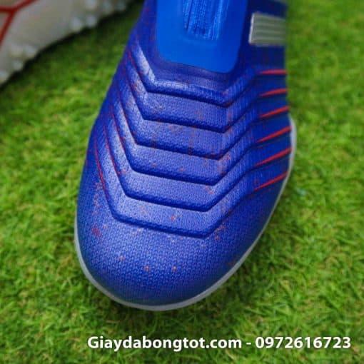 Giay da bong khong day Adidas Predator 19+ TF xanh duong 2019 (4)