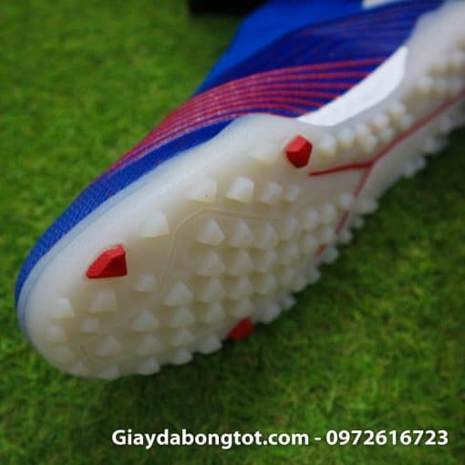 Giay da bong khong day Adidas Predator 19+ TF xanh duong 2019 (5)