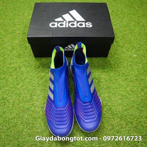 Giay da bong khong day Adidas Predator 19+ TF xanh duong 2019 (6)
