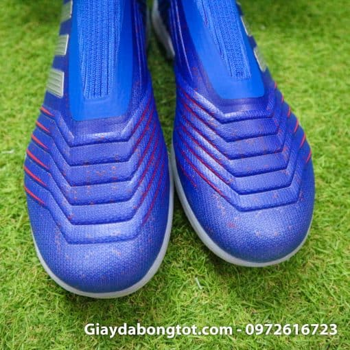 Giay da bong khong day Adidas Predator 19+ TF xanh duong 2019 (7)