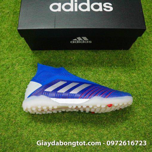 Giày bóng đá không dây Adidas Predator 19+ đinh thấp TF màu xanh dương