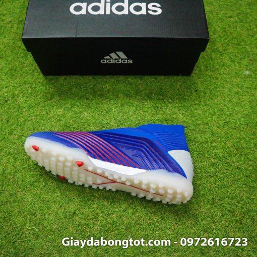 Giay da bong khong day Adidas Predator 19+ TF xanh duong 2019 (9)