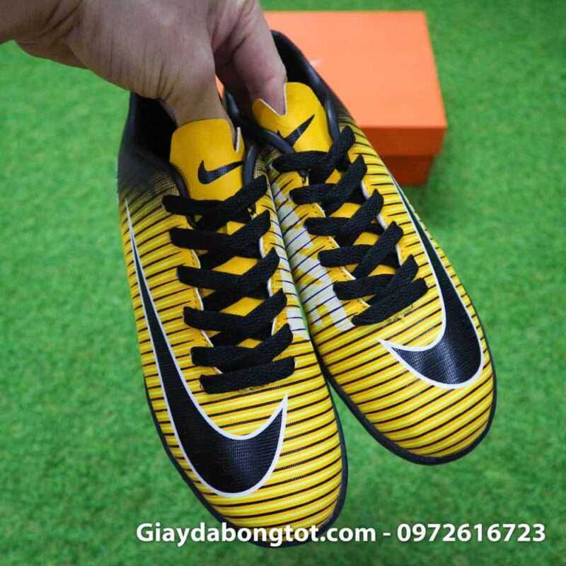 Giay da bong tre em Nike Mercurial 6 TF vàng đen (8)