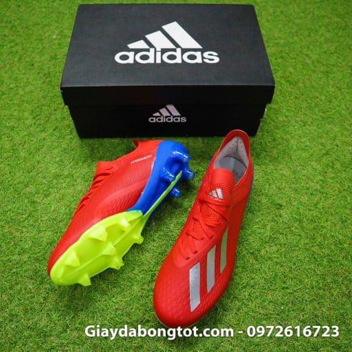 Giày sân cỏ tự nhiên Adidas X18.1 FG màu đỏ có trọng lượng nhẹ so với các dòng giày khác