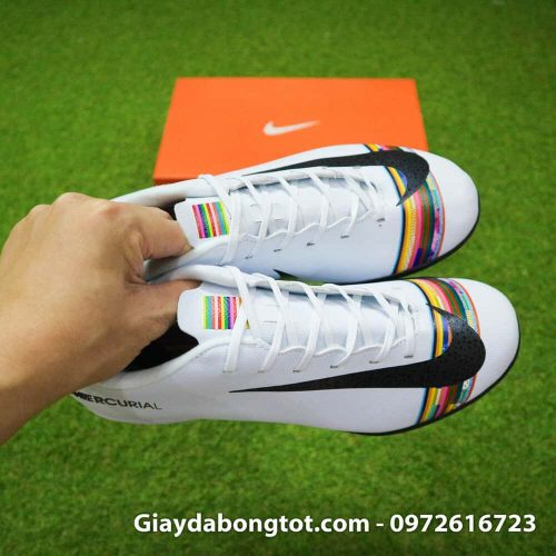 Giay san co nhan tao Nike Mercurial CR7 Level Up mau trang co thap (7)