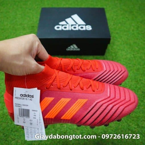 Giày Adidas Predator 19.1 có form giày đẹp mắt với các vân nổi ở mũi giày, má trong giày