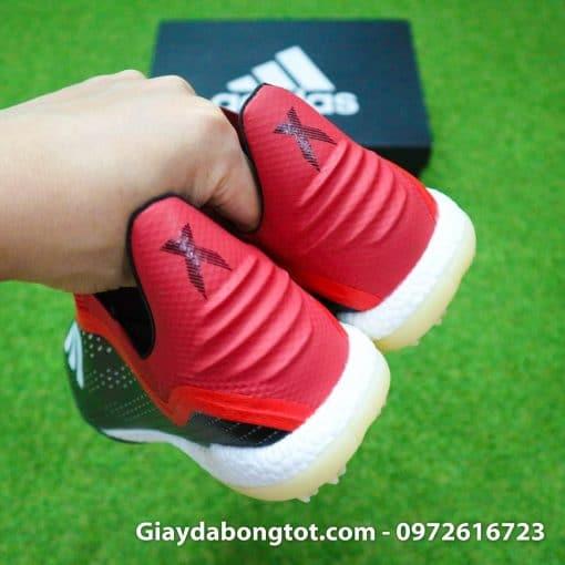 Giay da banh khong day Adidas X18+ TF den do (1)