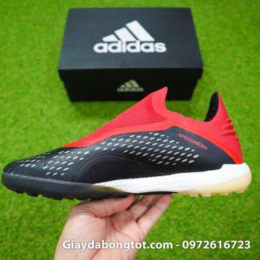 Giay da banh khong day Adidas X18+ TF den do (10)