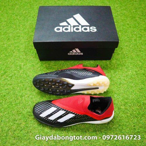 Giay da banh khong day Adidas X18+ TF den do (2)