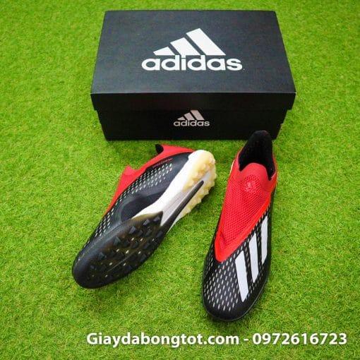 Giay da banh khong day Adidas X18+ TF den do (3)