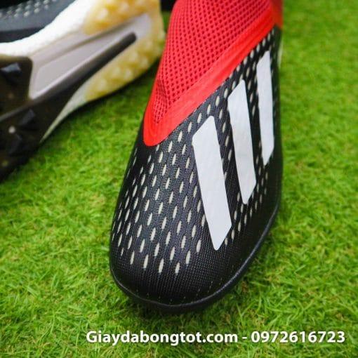 Giay da banh khong day Adidas X18+ TF den do (5)