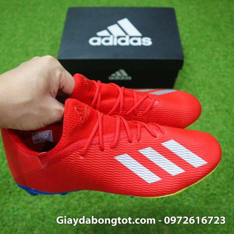 Giày đá banh sân cỏ Adidas X19.3 FG màu đỏ có form giày thon gọn đẹp mắt