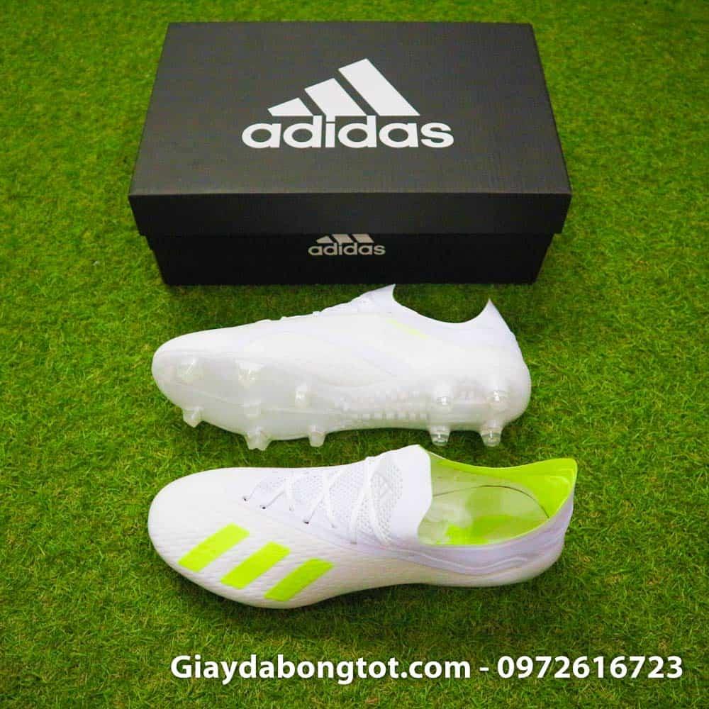 half off 70a6d cb3f6 Giày đinh cao Adidas X18.1 FG Trắng vạch chuối -