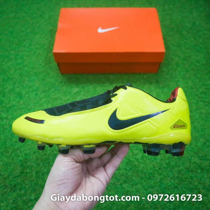 Giay da bong Nike T90 Laser I Remake Vang den Rooney (9)