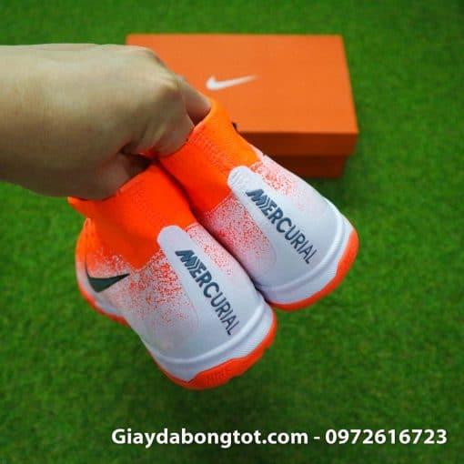 Giay da bong co cao Nike Mercurial Superfly VI mau cam trang Euphoria pack (12)
