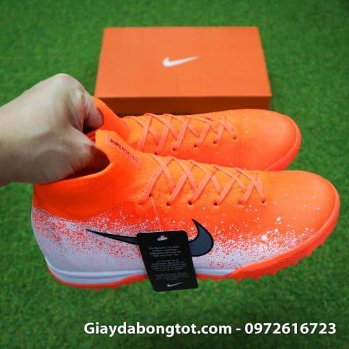 Giay da bong co cao Nike Mercurial Superfly VI mau cam trang Euphoria pack (7)