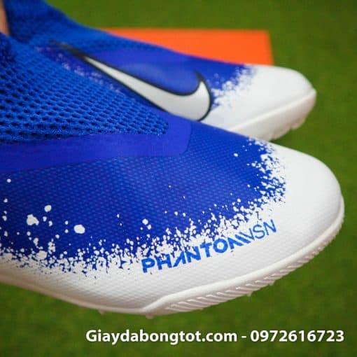 Giay da bong co cao Nike Phantom VSN Pro TF mau xanh duong trang (1)