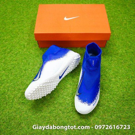 Giay da bong co cao Nike Phantom VSN Pro TF mau xanh duong trang (3)