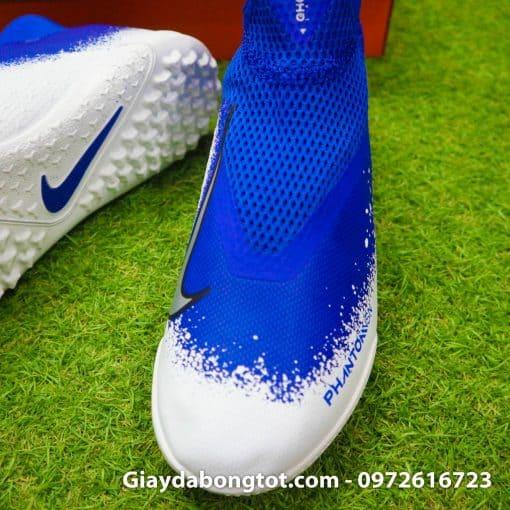 Giay da bong co cao Nike Phantom VSN Pro TF mau xanh duong trang (5)