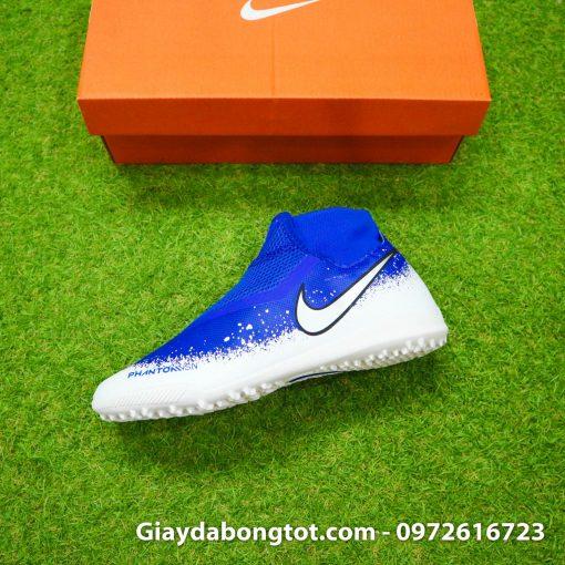 Giay da bong co cao Nike Phantom VSN Pro TF mau xanh duong trang (7)