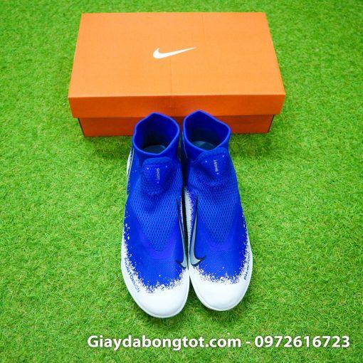 Giay da bong co cao Nike Phantom VSN Pro TF mau xanh duong trang (8)
