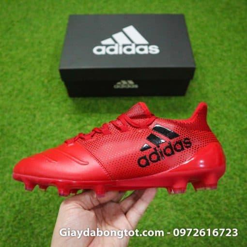 Giày đá banh da mềm Adidas X17.1 FG màu đỏ có form giày thon gọn đẹp mắt