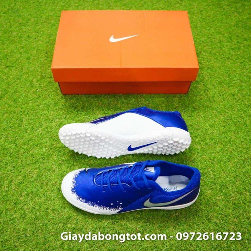 Giay da bong om chan Nike Phantom VSN TF xanh duong trang Euphoria Pack (1)