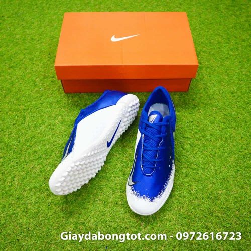 Giay da bong om chan Nike Phantom VSN TF xanh duong trang Euphoria Pack (2)