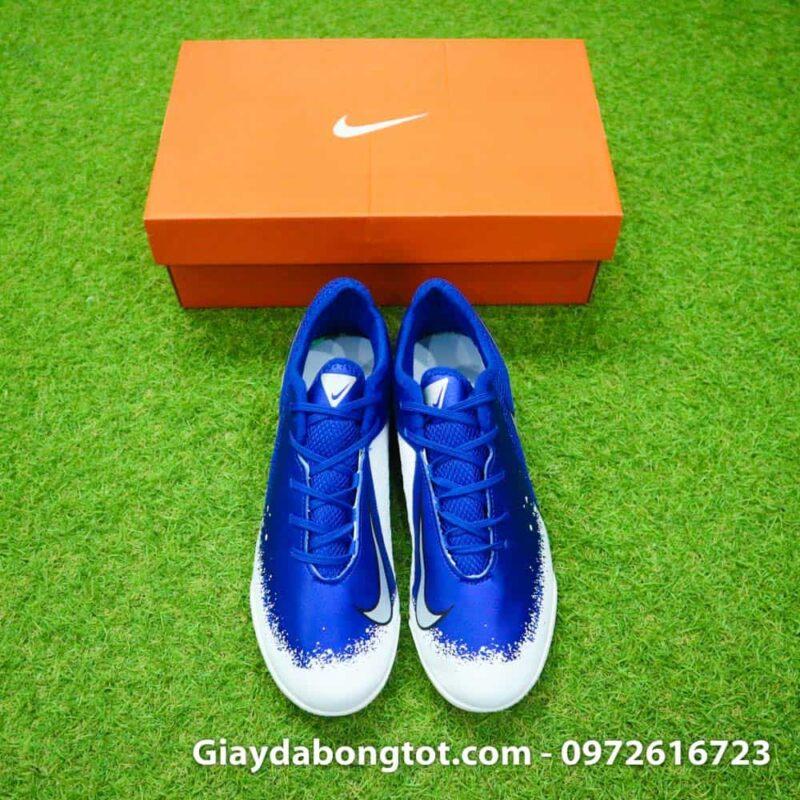 Giay da bong om chan Nike Phantom VSN TF xanh duong trang Euphoria Pack (3)