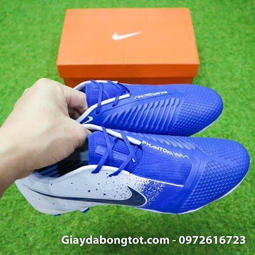 Giay da bong tien dao Nike Phantom VNM FG xanh duong trang Euphoria Pack (13)
