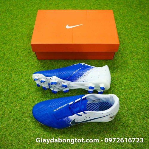 Giay da bong tien dao Nike Phantom VNM FG xanh duong trang Euphoria Pack (2)