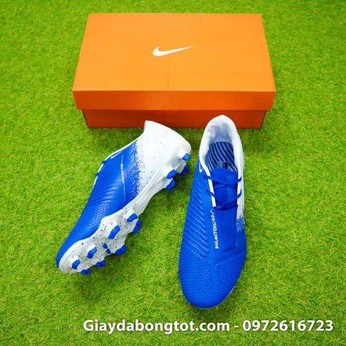 Giay da bong tien dao Nike Phantom VNM FG xanh duong trang Euphoria Pack (3)