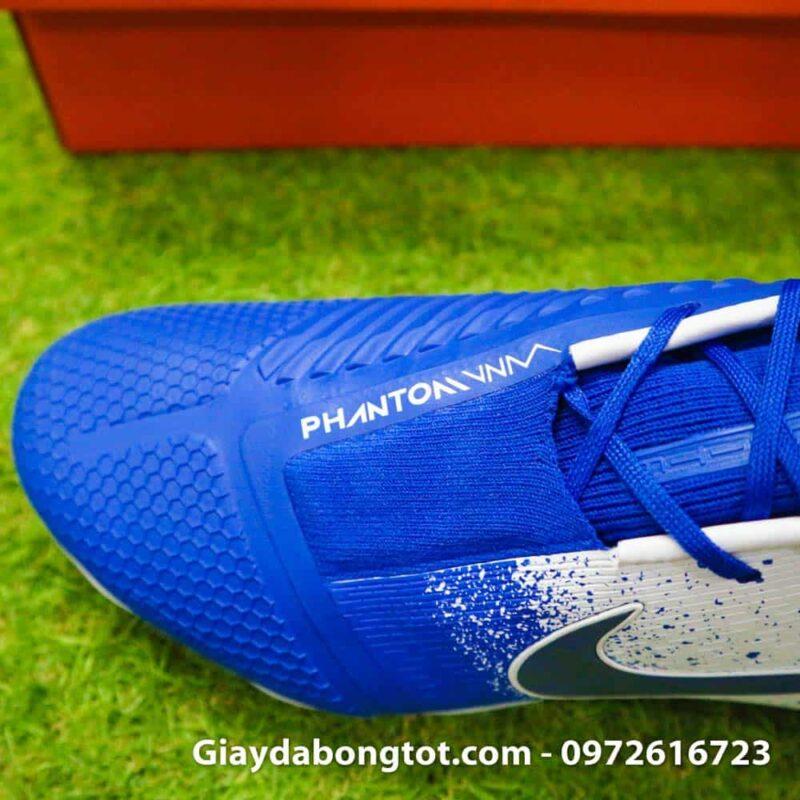 Giay da bong tien dao Nike Phantom VNM FG xanh duong trang Euphoria Pack (9)